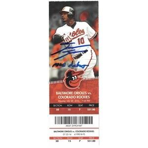 David Dahl Autographed Colorado Rockies Ticket Stub MLB Debut JSA