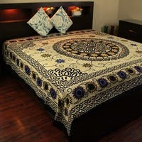 Cotton Celtic Knots Tapestry Wall Hanging Sunflower Mandala Tablecloth Coverlet Bedspread Dorm Decor Beach Sheet in Twin & Full