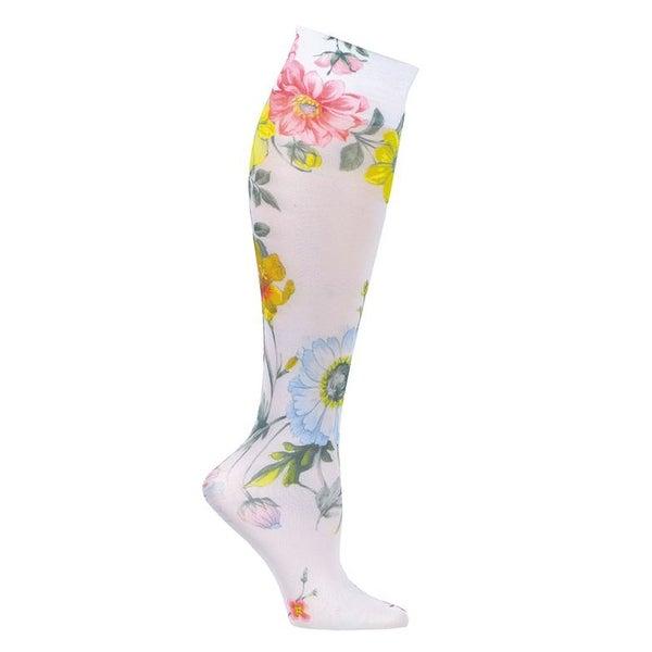 Celeste Stein Women's Mild Compression Knee High Stockings - English Garden - Medium