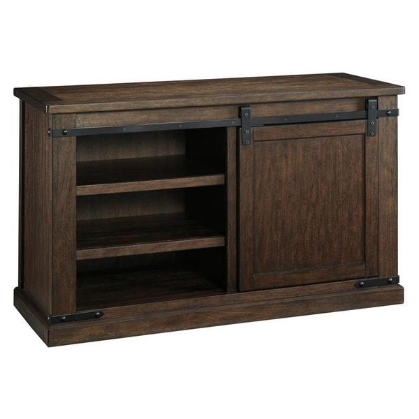Ashley Furniture W562-28 Budmore Medium TV Stand w/ 1 Sliding Barn Door