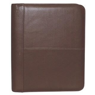 Buxton Genuine Leather Zip-Around Portfolio (Option: brown)