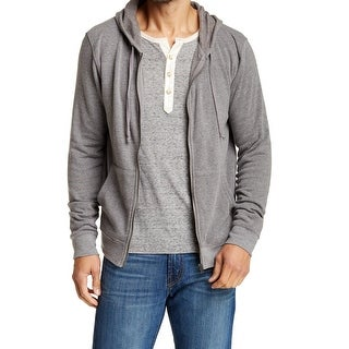 THREADS 4 THOUGHT NEW Gray Mens Size Large L Hooded Full Zip Sweater