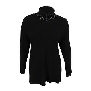 Alfani Women's Embellished Turtleneck Sweater