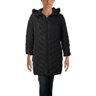 Ellen Tracy Womens Plus Parka Coat Winter Down