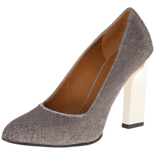 Calvin Klein Collection Gray Shoes 8M Pumps Classics Leather