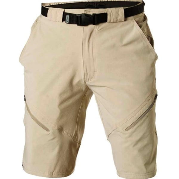 ec738d99c97 Shop Zoic Mens Black Market Small Tan Bike Shorts with Essential Liner -  Free Shipping On Orders Over  45 - Overstock.com - 16563474