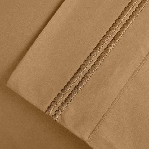 Superior Wrinkle Resistant Embroidered Microfiber Deep Pocket Bed Sheet Set