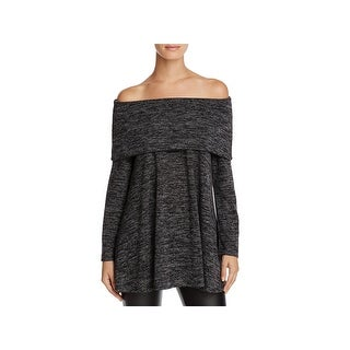Nally & Millie Womens Marilyn Sweater Off-The-Shoulder Long Sleeve