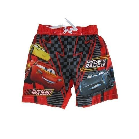 Disney Little Boys Red Cars Swim Shorts
