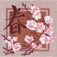 "Spring Counted Cross Stitch Kit-8""X8"" 16 Count"