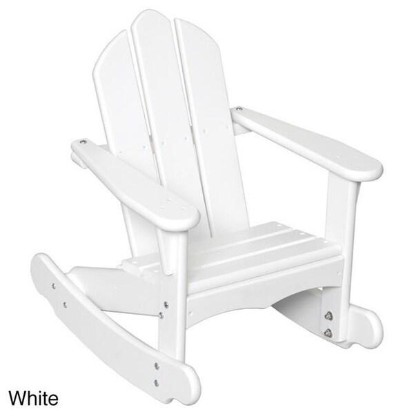 Shop Little Colorado 141sw Childs Adirondack Rocking Chair White