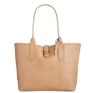 Lucky Brand Womens Dempsey Tote Handbag Leather Shopper - Natural - Large