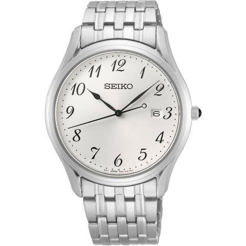 Seiko Men's SUR299 'Classic' Stainless Steel Watch - Silver