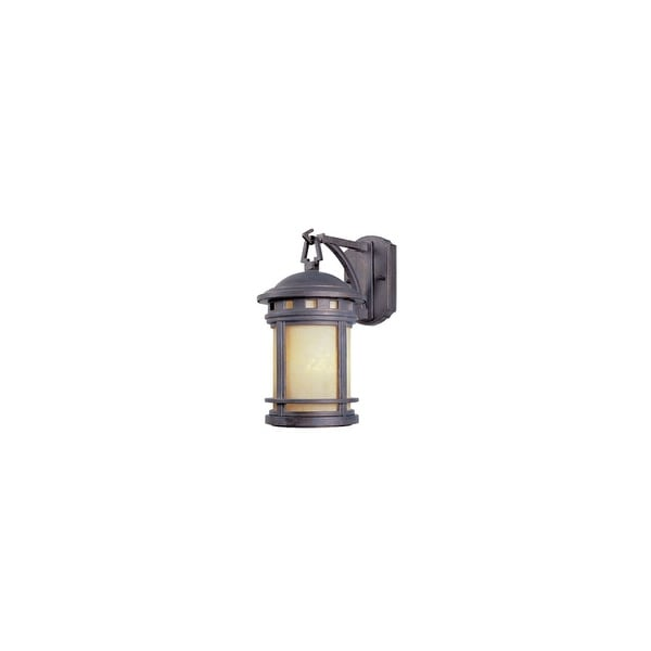 """Designers Fountain 2371-AM-MP 1-Light 7"""" Cast Aluminum Wall Lantern from the Sedona Collection - mediterranean patina - n/a"""