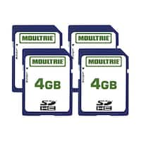 Moultrie MFHP60010 4GB SD Memory Card w/ Write-Protect Switch (4 Pack)