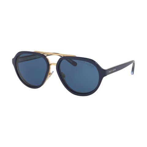 Ralph Lauren RL8174 572980 57 Navy Blue Woman Irregular Sunglasses