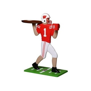 My Wingman University of Wisconsin Badgers Football Player Accent Table - Red