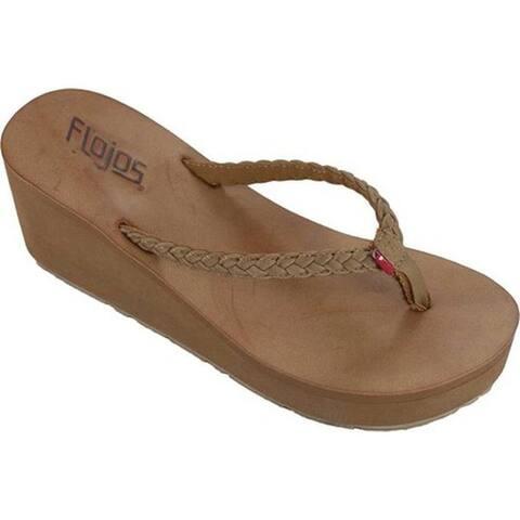 109ec9784 Flojos Women s Hayley Thong Sandal Tan Woven Polyurethane