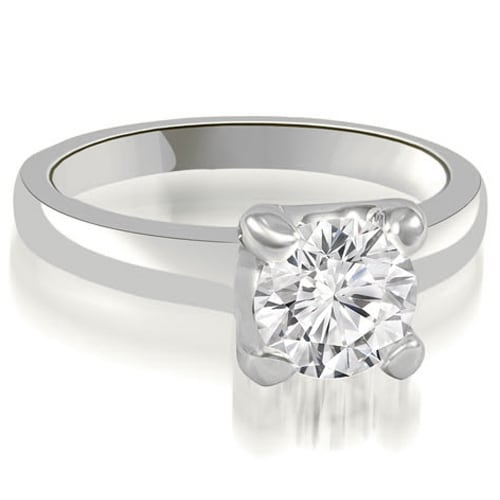 0.50 cttw. 14K White Gold 4-Prong Solitaire Round Cut Diamond Engagement Ring