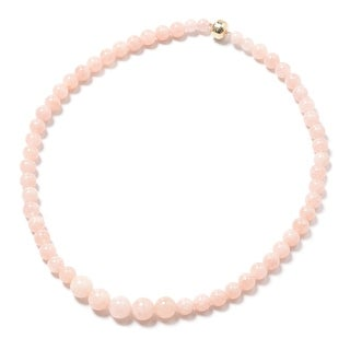 Link to Yellow Gold Pink Morganite Necklace Size 18 Inch Ct 215.5 - Size 18'' Similar Items in Necklaces