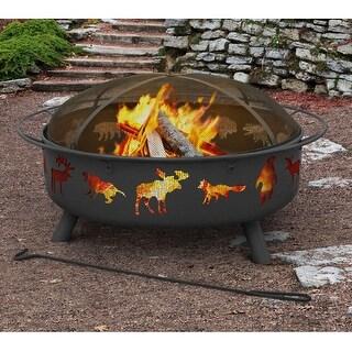 Landmann 28915 Super Sky Sturdy Steel Fire Pit - Black