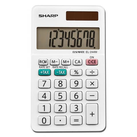 Sharp EL-244WB Professional Pocket Calculator with 8-Digit LCD Display, Small
