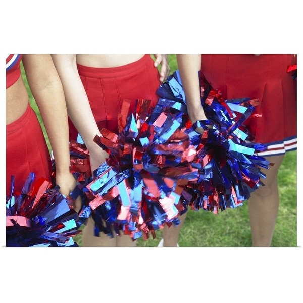 """""""Mid Section View of Three Cheerleaders"""" Poster Print"""