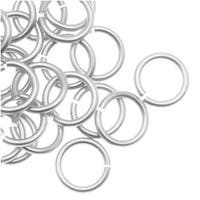 Artistic Wire, Chain Maille Jump Rings, 20 Ga / ID 4.37mm / 70pc, Tarnish Resistant Silver Plated