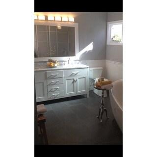 Design Element London Inch Carrara Marble White Double Sink - Bathroom vanities 72 inch double sink for bathroom decor ideas