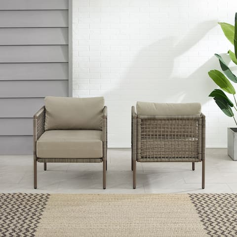 Cali Bay 2Pc Outdoor Wicker Armchair Set