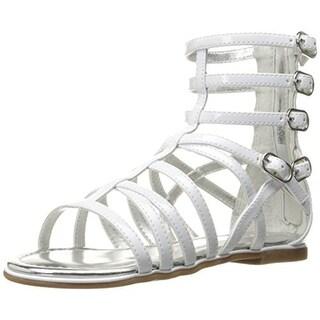 Nina Girls Octavia Patent Leather Gladiator Sandals - 13