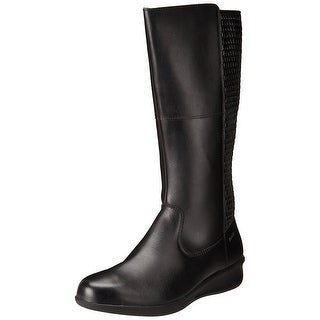 Aravon Womens Lillian Leather Closed Toe Knee High Cold Weather Boots