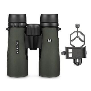 Vortex Diamondback 8x42 Binoculars with Smartphone Adapter Bundle