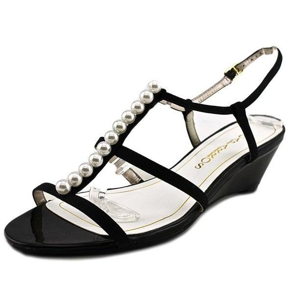 Caparros Sullivan Women Open Toe Synthetic Black Wedge Sandal