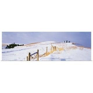 """Montana, farm, winter"" Poster Print"