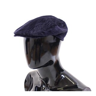 Dolce & Gabbana Blue Cotton Logo Hat Cabbie