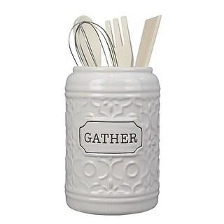 "Ceramic ""Gather"" Tool holder w/Tools"