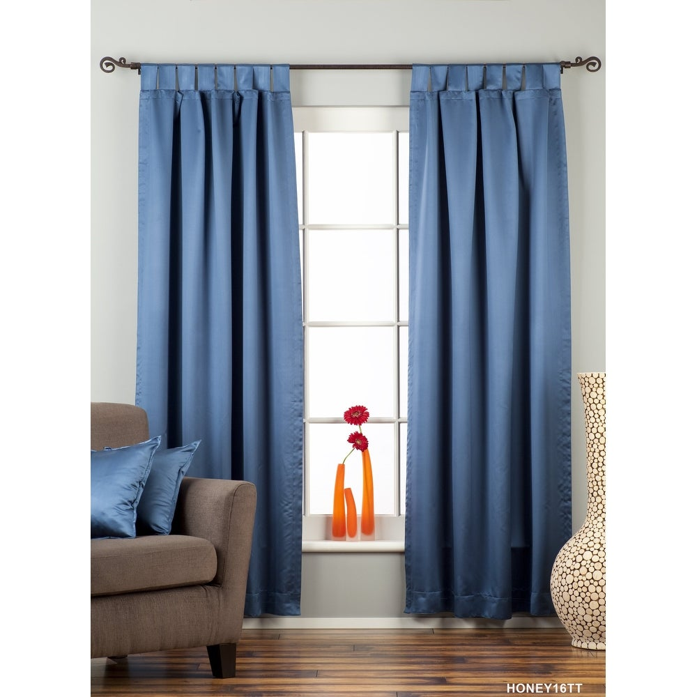 Blue Tab Top blackout Curtain / Drape / Panel - Piece. Opens flyout.