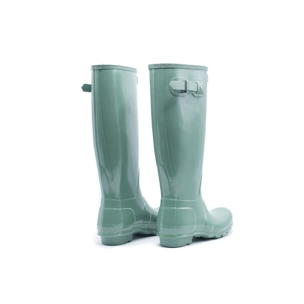 Hunter Womens Succulent Green Original Tall Gloss Rain Boots