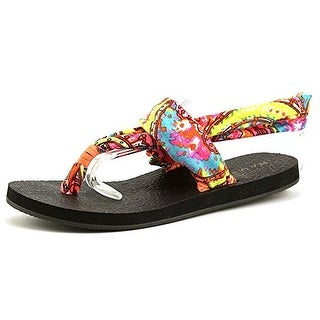 Rampage Womens JOJO Fabric Open Toe Casual Slingback Sandals