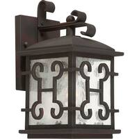 Forte Lighting 1135-01 1-Light Outdoor Wall Sconce with Lantern Shade - Antique Bronze - N/A