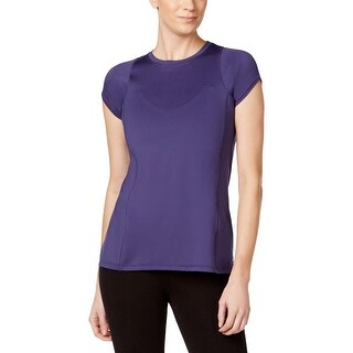 Calvin Klein Performance Womens Pullover Top Stretch Pleated Back - L