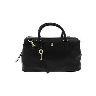 London Fog Womens Brunswick Satchel Handbag Convertible Signature - MEDIUM