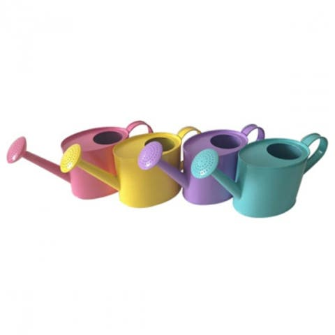 Panacea 84878 Oval Steel Watering Can, 1/4 Gallon, Assorted Pastel Colors