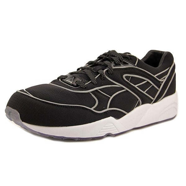 Puma Trinomic R698 x ICNY Men Round Toe Canvas Black Running Shoe