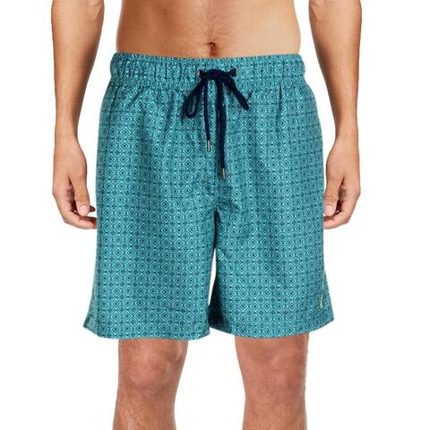 IKE By Ike Behar Mens Printed Quick Dry Swim Trunks