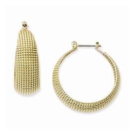 Goldtone Yellow Crystal & Acrylic Pearl Shepherds Hook Earrings