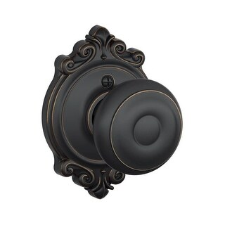 Schlage F170-GEO-BRK Single Dummy Georgian Door Knob with the Decorative Brookshire Rose