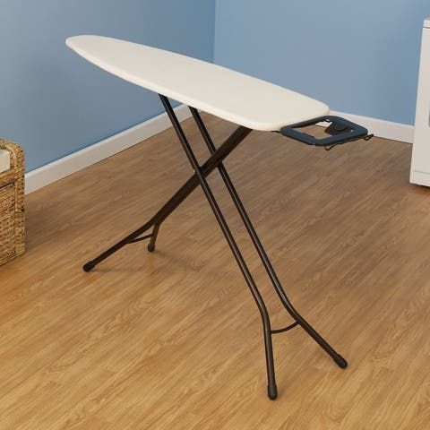 """Household Essentials Steel Top Ironing Board, 14""""x 54"""", Natural Cover and Pad - 14'' x 54''"""