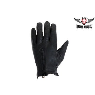 Driving Gloves With Lining & Zipper - Size - XL